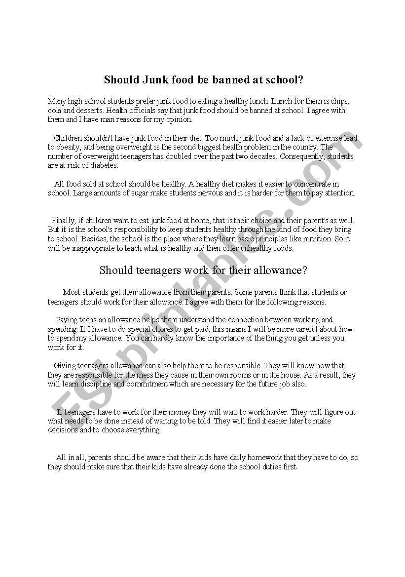 paragraph writing - ESL worksheet by