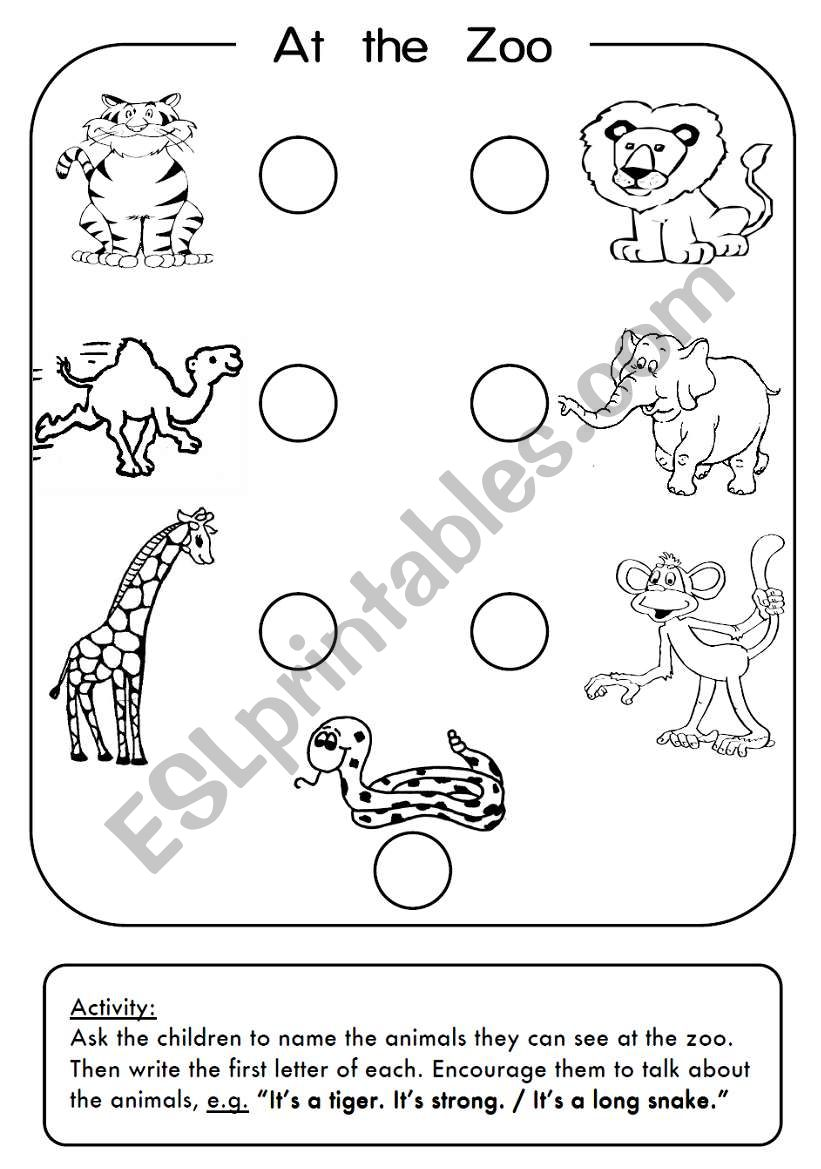 zoo animals esl worksheet by 3mmm. Black Bedroom Furniture Sets. Home Design Ideas