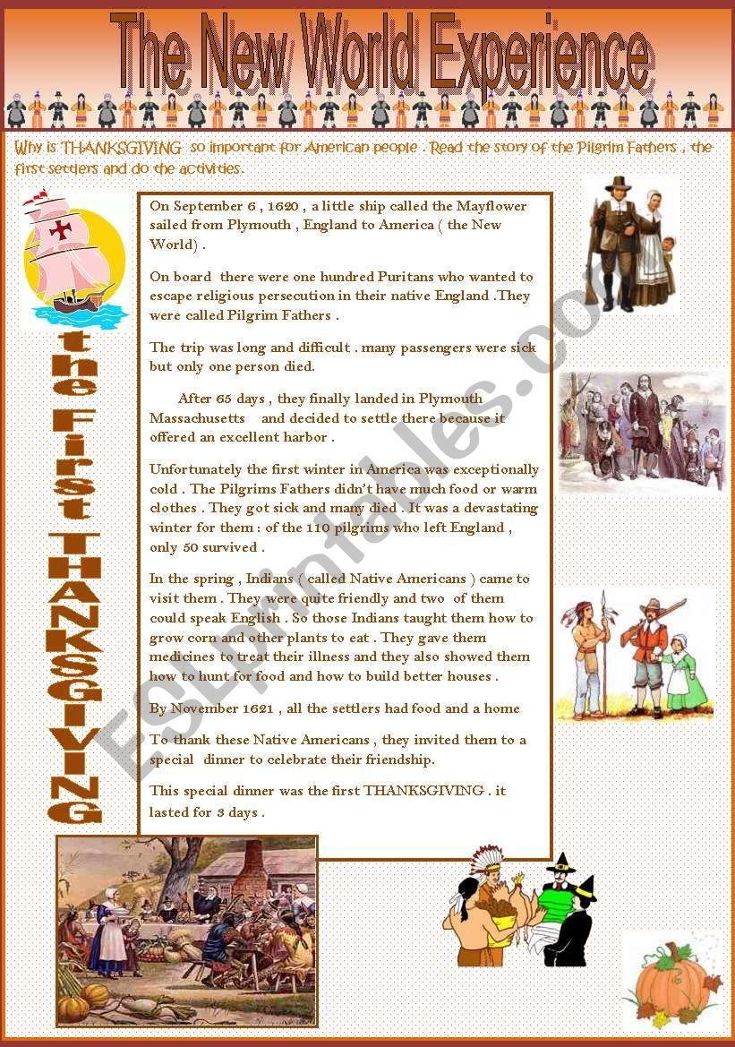 THANKSGIVING - part 2  ( a 2 page document )