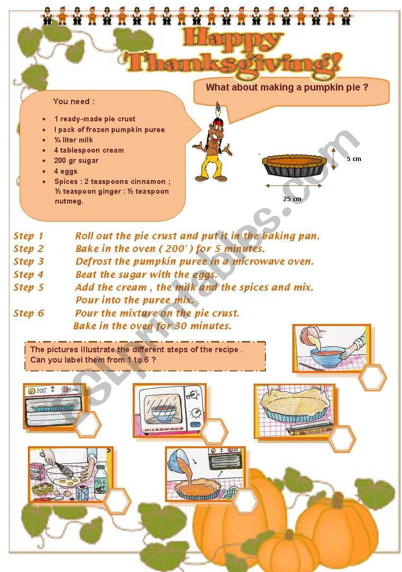 THANKSGIVING - part 3 - a recipe