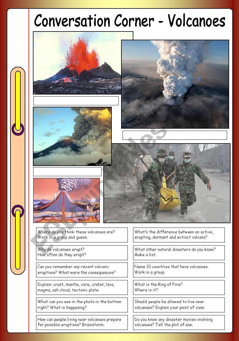 Conversation Corner - Volcanoes