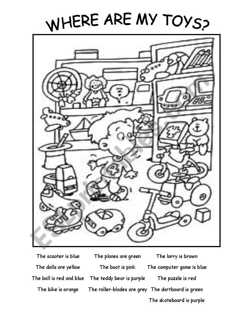 Where are my toys? worksheet