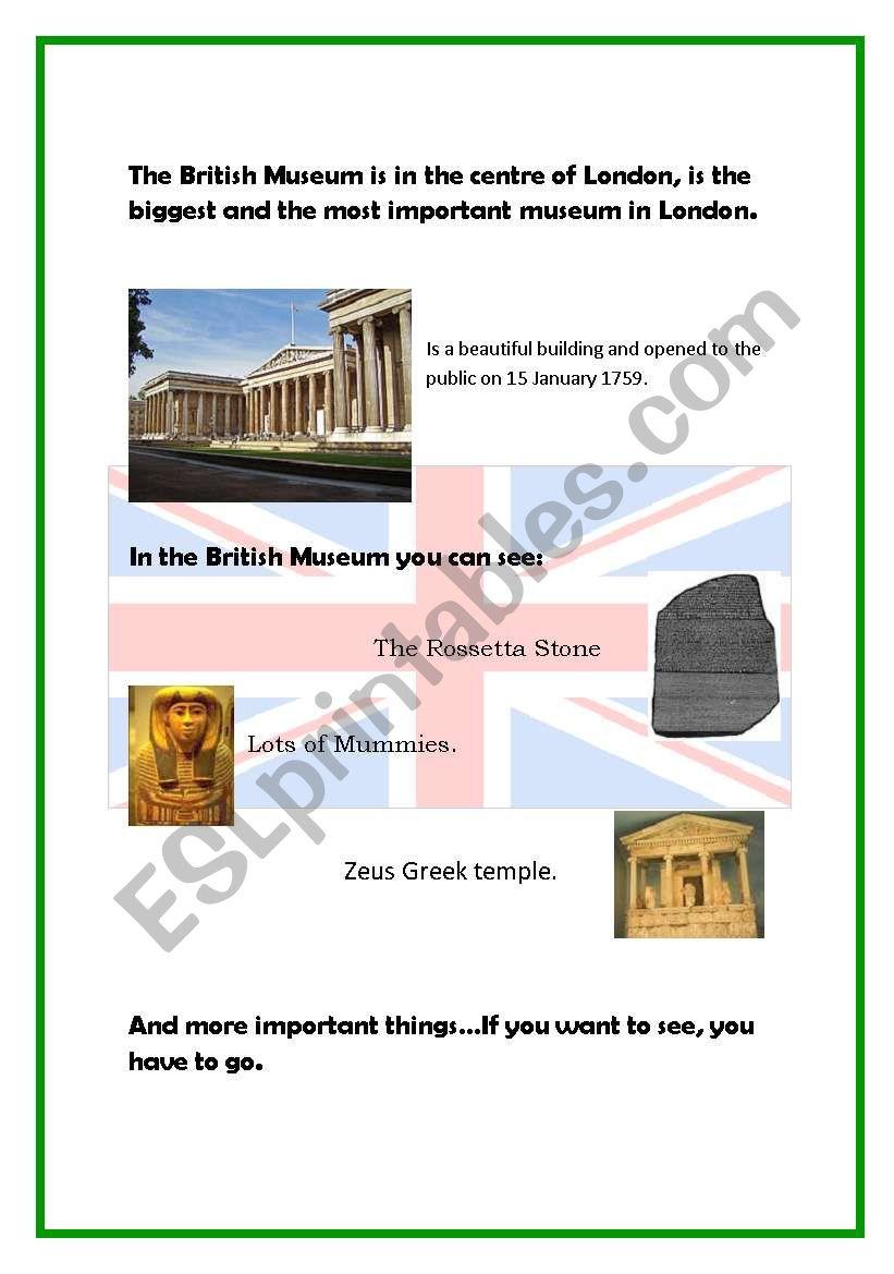 Culture: The British  Museum worksheet