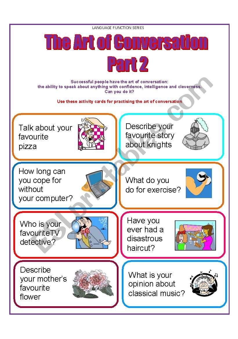 Conversation Cards worksheet