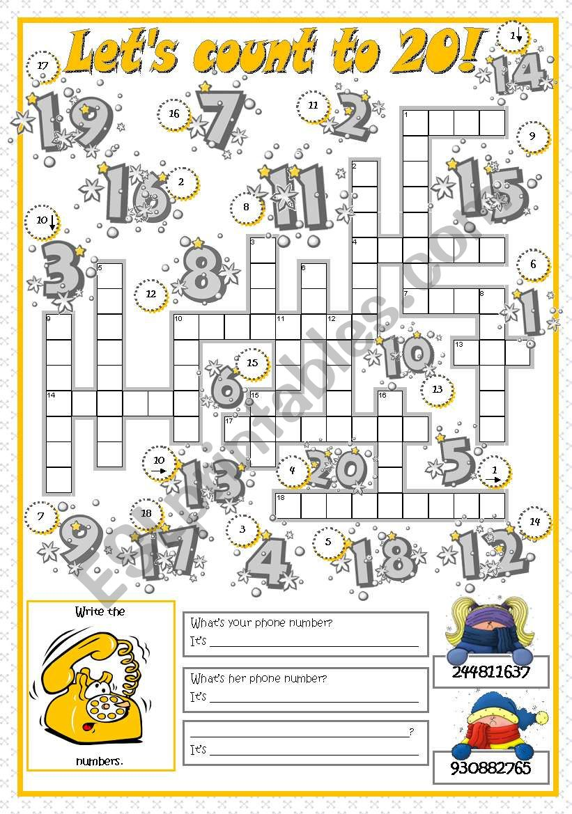 LET´S COUNT TO 20! worksheet