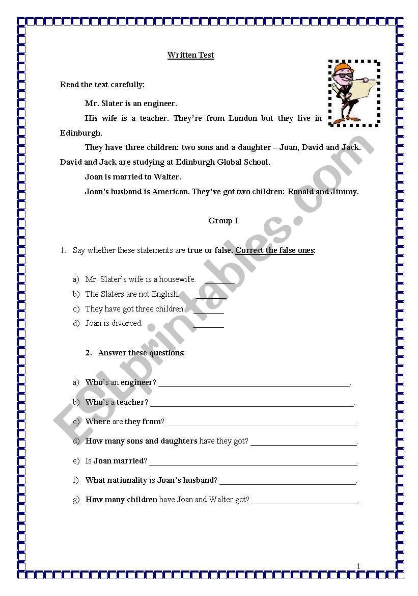 TEST ON JOBS - REUPLOAD worksheet