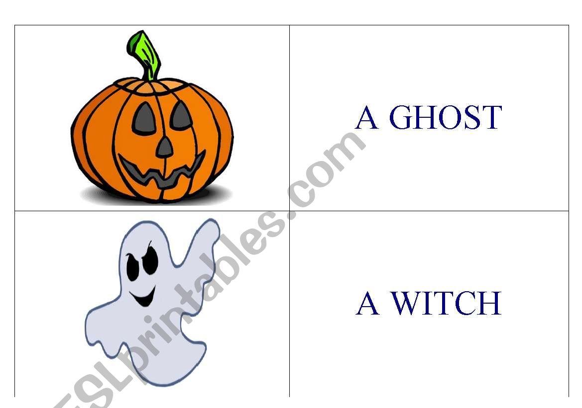 Halloween Domino 1 worksheet