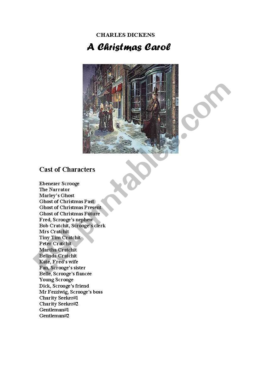 a christmas carol simple and short play script - Christmas Carol Script