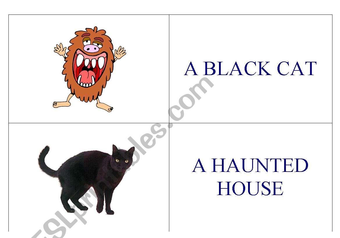 Halloween Domino worksheet