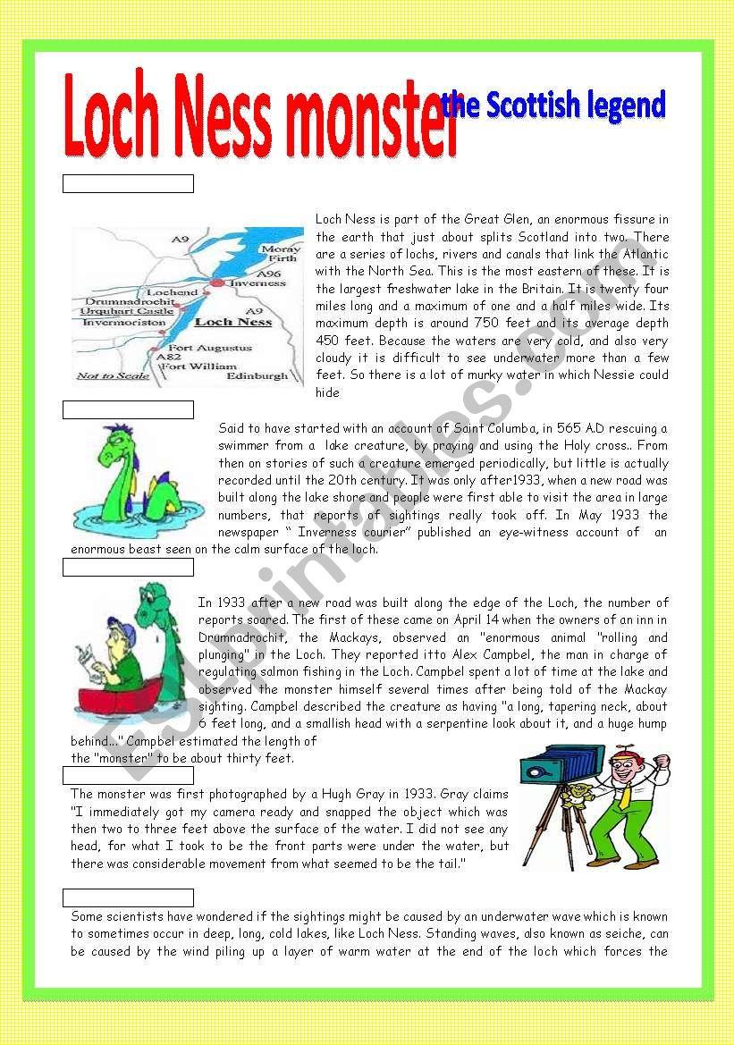 Loch Ness monster: the Scottish legend