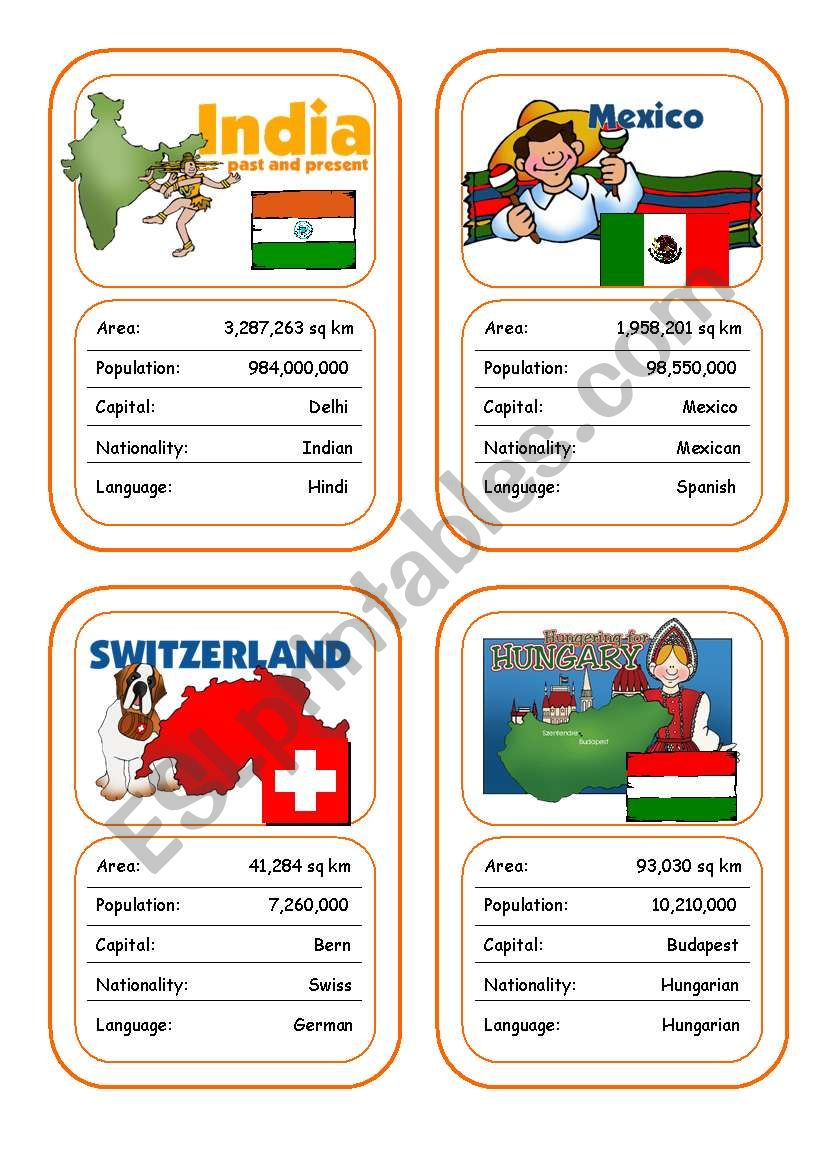Countries Card Game (Part 4 out of 4)