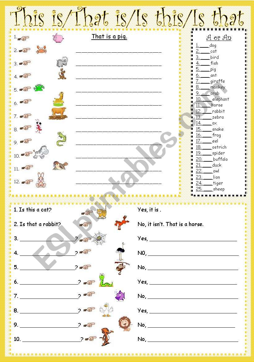 This is/That is/Is this/Is that - ESL worksheet by sweetdreamja