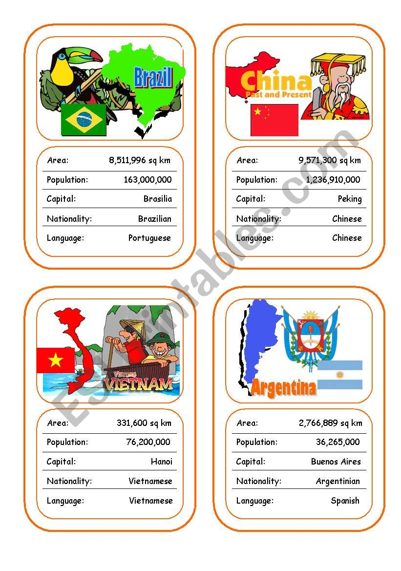 Countries Card Game (Part 5 - additional)