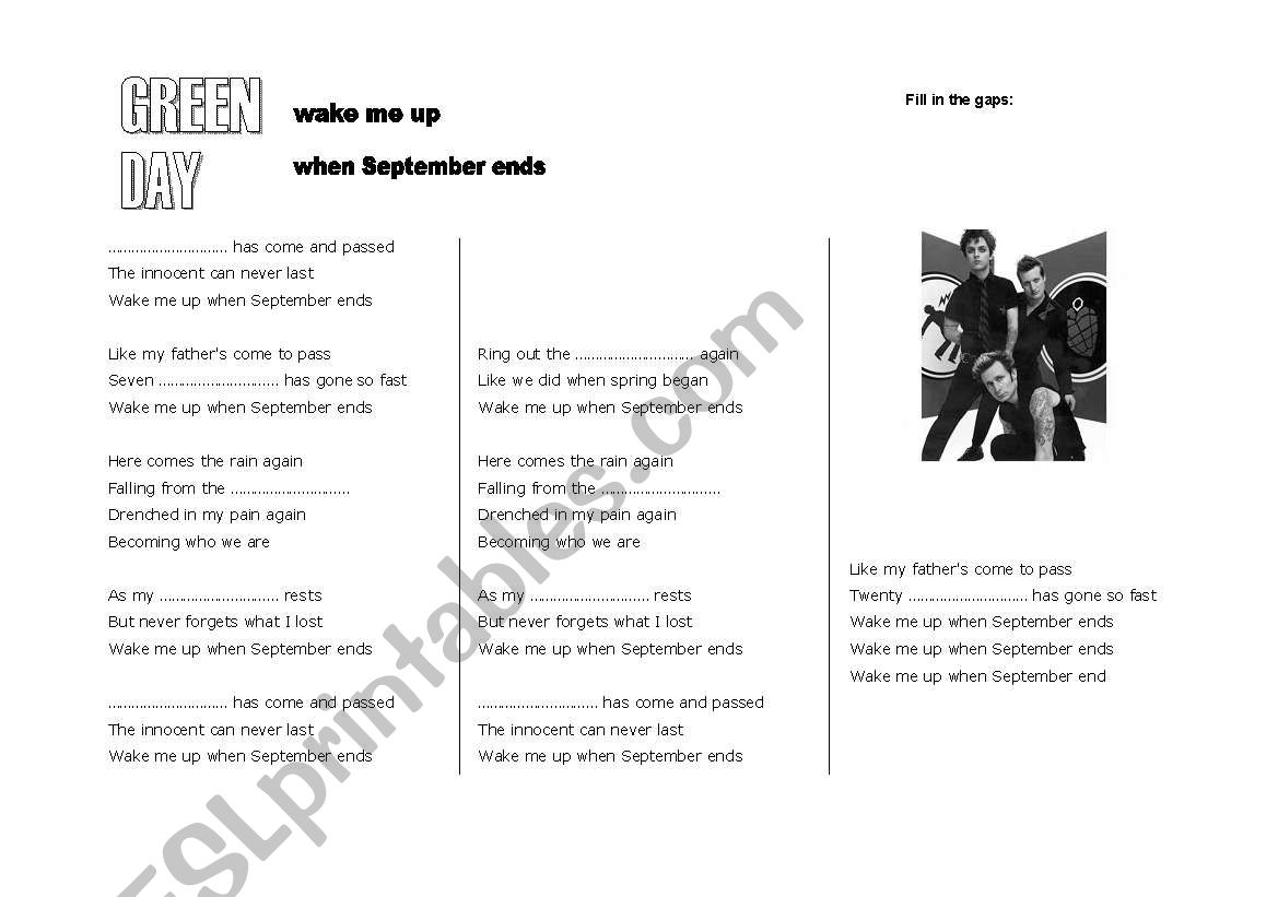 Song: Green Day,