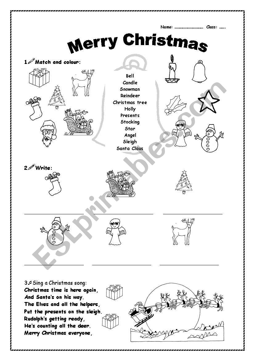 - Merry Christmas - ESL Worksheet By Cgbraga