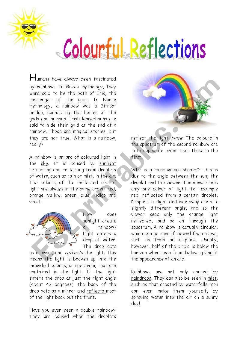 Rainbows - ESL worksheet by beyhana