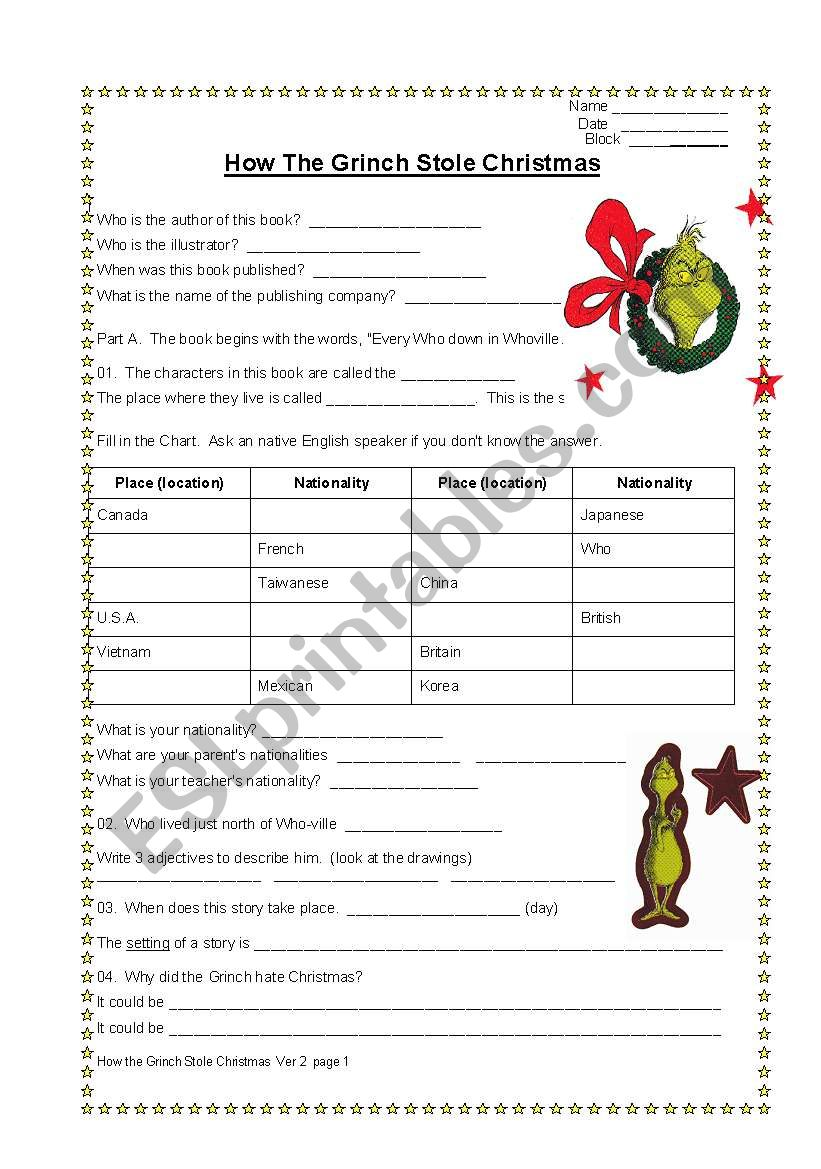 How The Grinch Stole Christmas Book Pdf.How The Grinch Stole Christmas An Exploration Of Everything