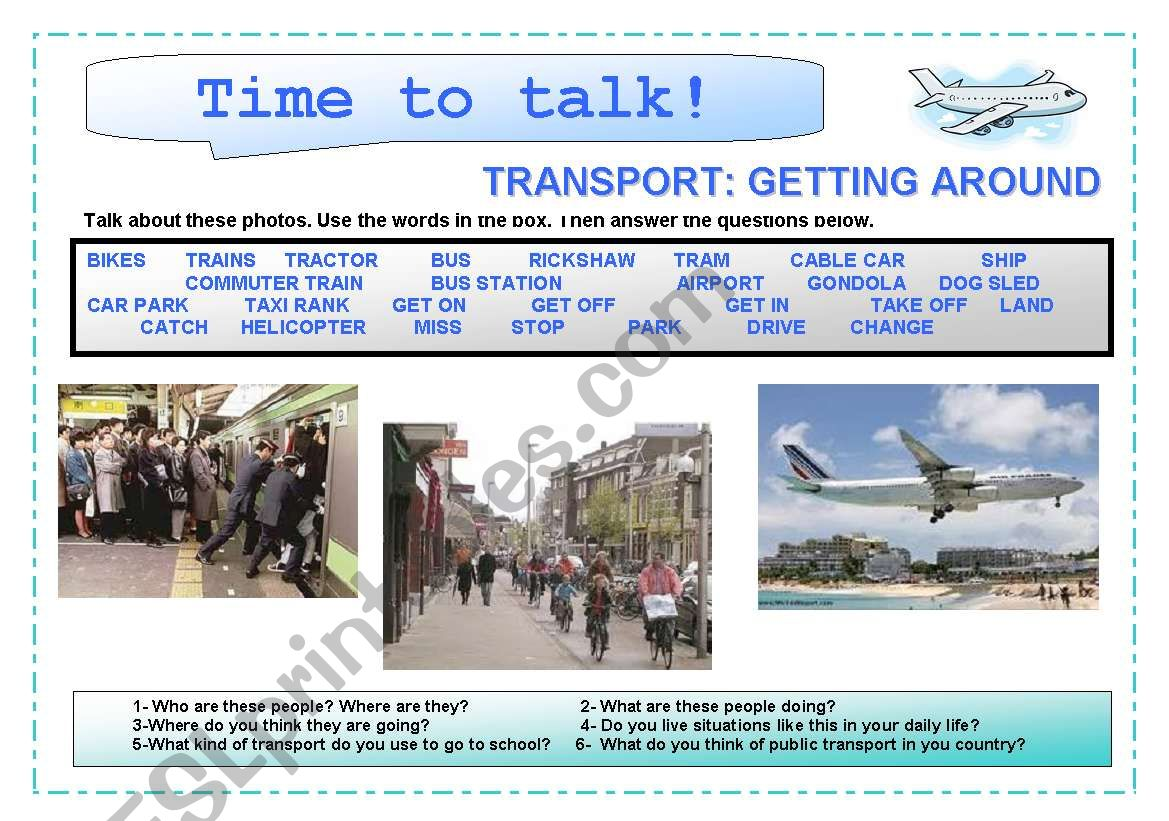 Time to talk (5): Transport . Getting around