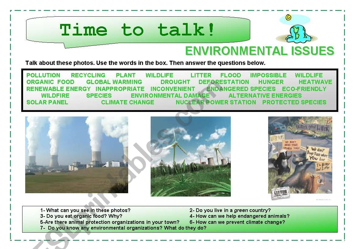 Time to talk (7): Environmental Issues