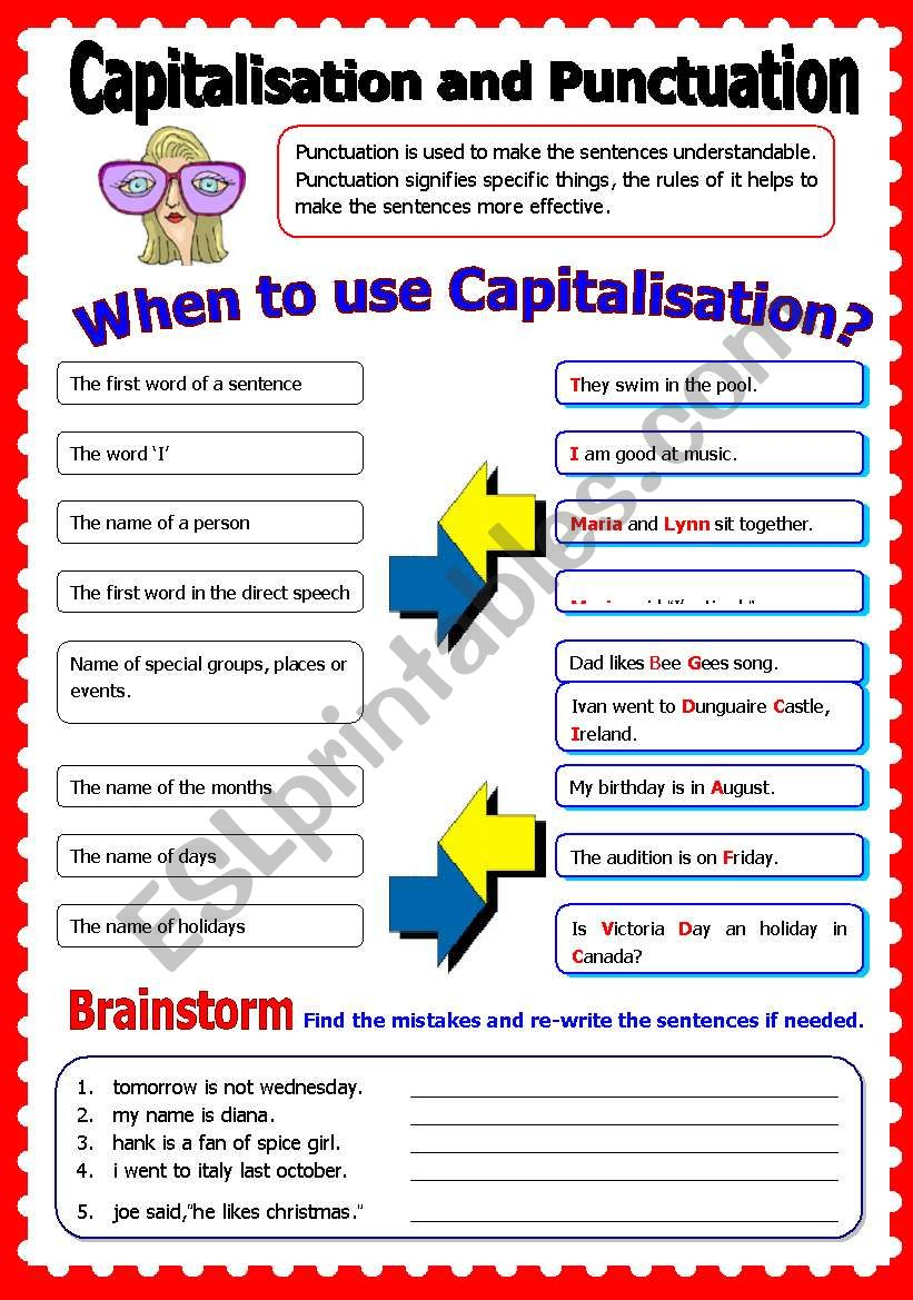 Capitalisation and Punctuation
