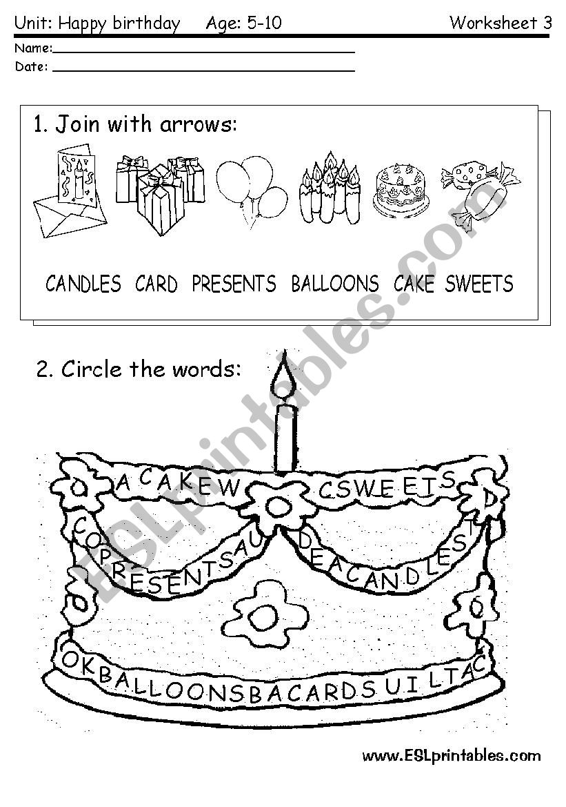 happy birthday reading worksheet 2 esl worksheet by victor. Black Bedroom Furniture Sets. Home Design Ideas