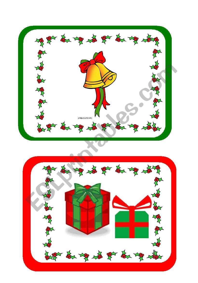 Christmas flashcards part 2 of 2