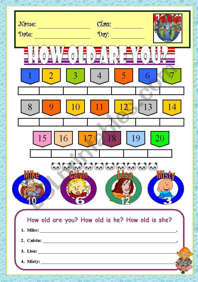 How Old Are You? (Numbers & Age)
