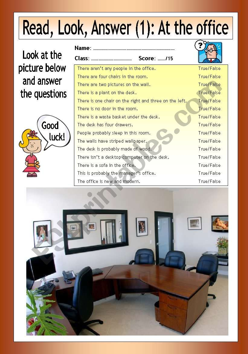Read - Look - Answer: At the Office (1)