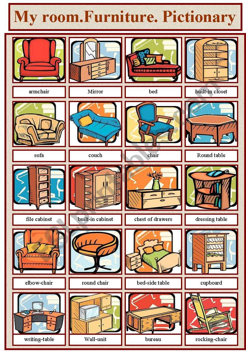 Furniture( Pictionary) worksheet