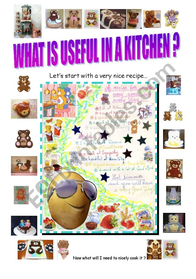 what is useful in a kitchen ? worksheet
