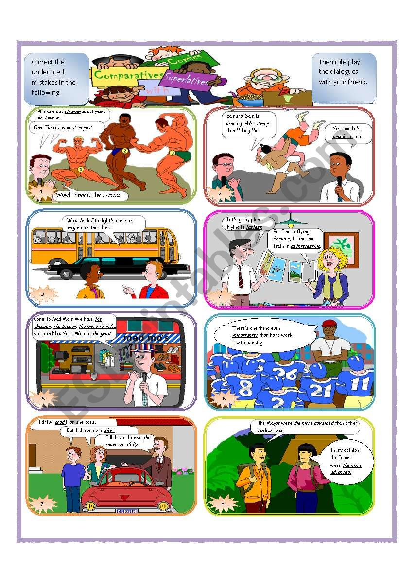 Comics with Comparatives & Superlatives