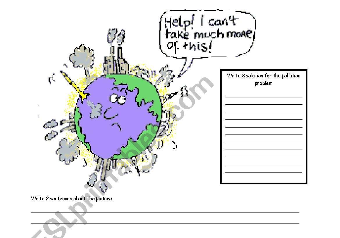 pollution problem worksheet