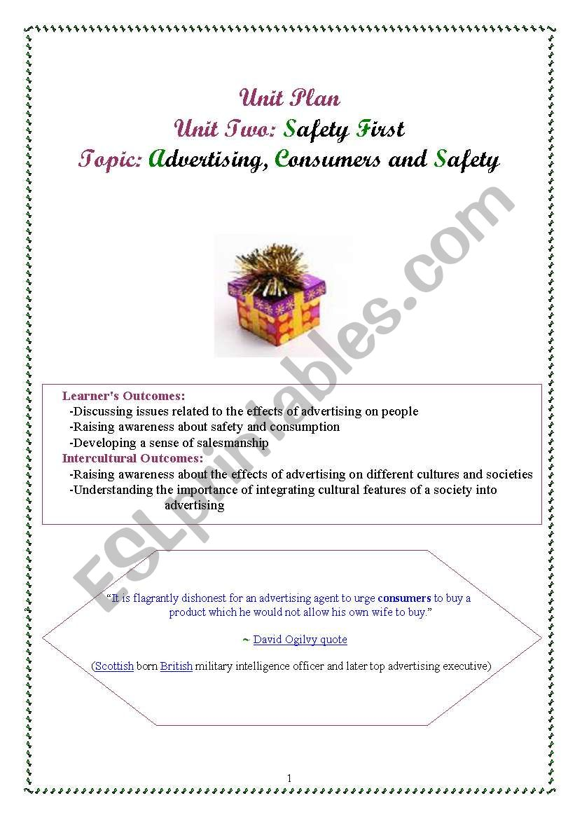 safety first lesson plan worksheet