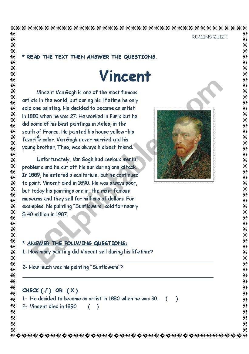 Vincent  worksheet