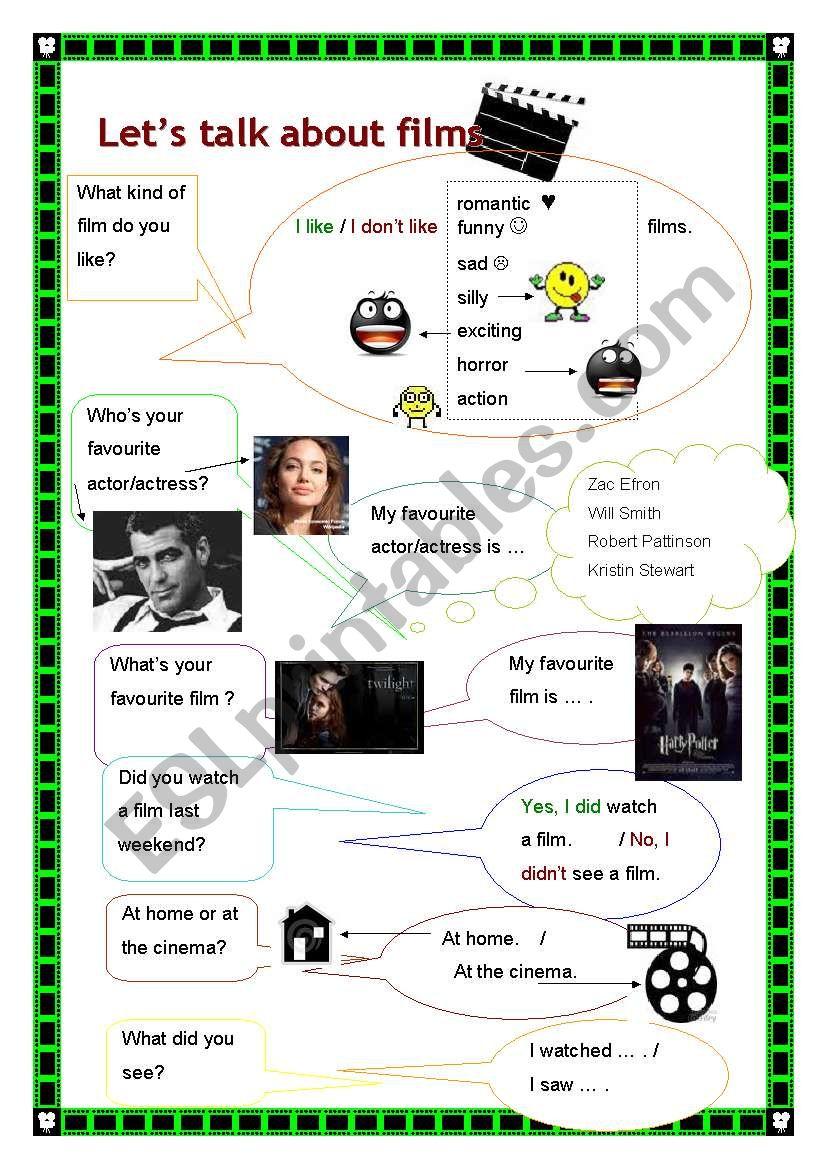 Let´s talk about films! worksheet