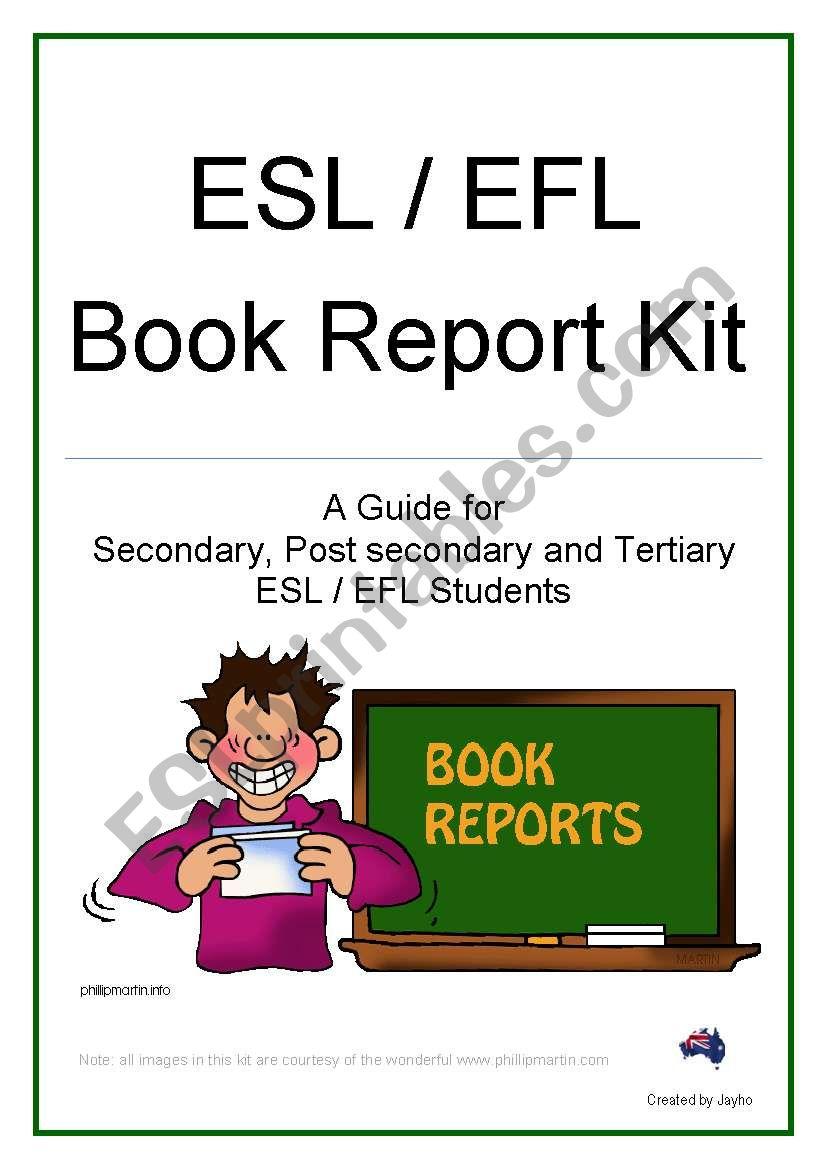 Book Report Kit worksheet