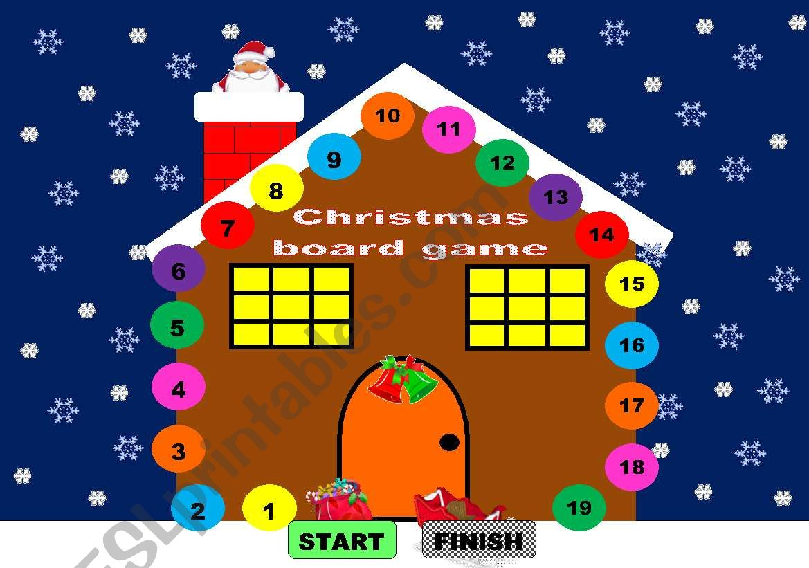 Christmas board game/ Christmas game  - young learners
