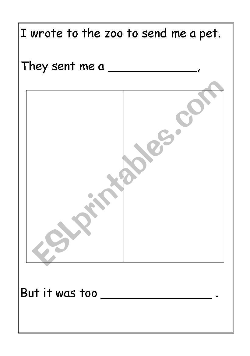 worksheet Dear Zoo Worksheet english worksheets dear zoo letter worksheet