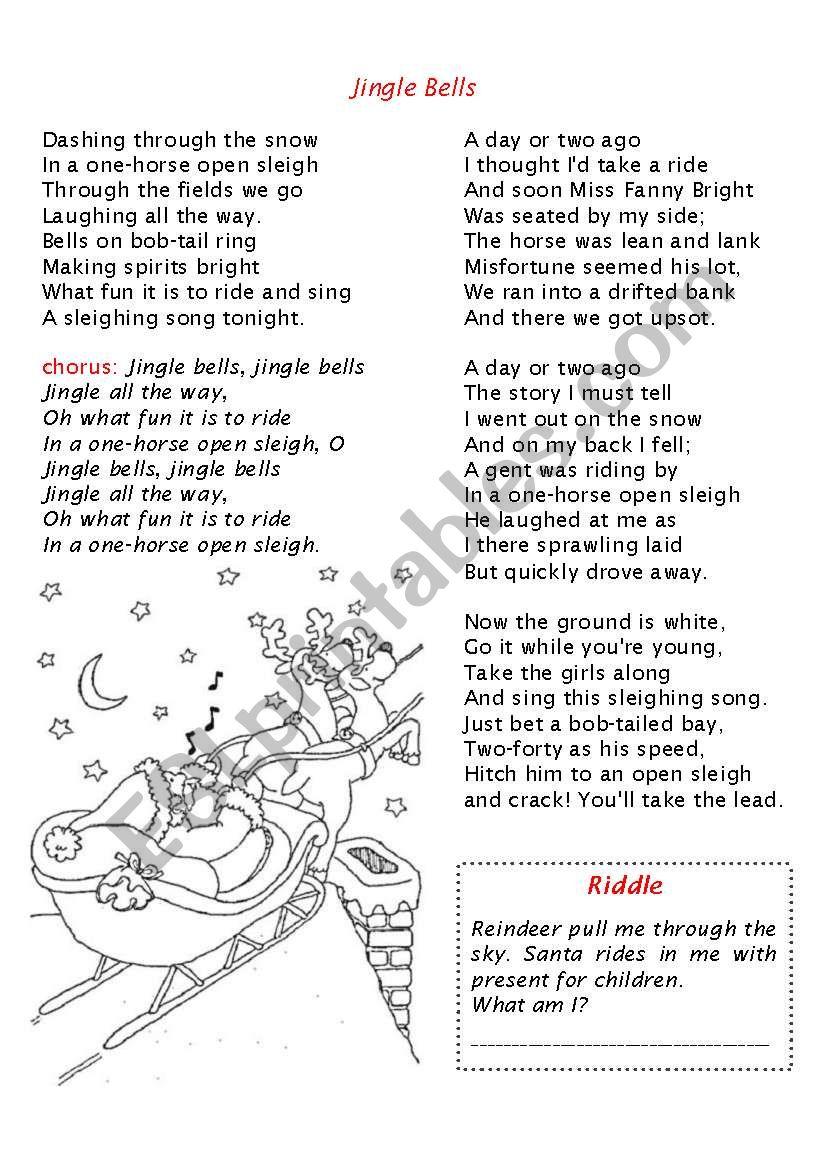 Christmas booklet part 2 worksheet