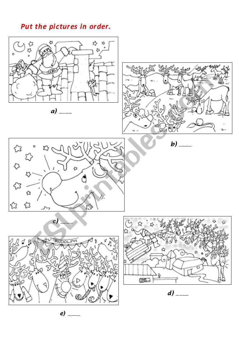 Christmas booklet part 3 worksheet