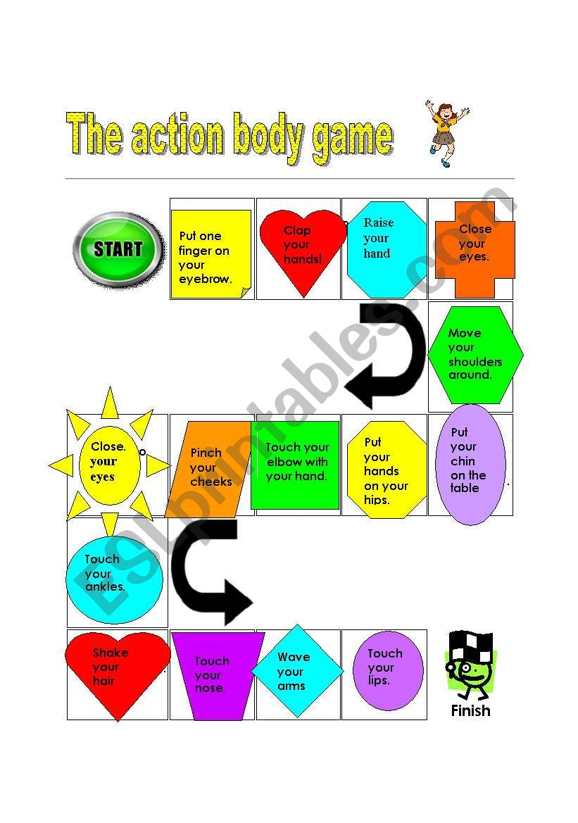 The action body boardgame worksheet