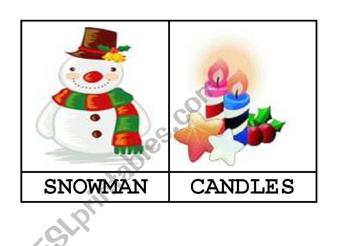 20 FLASHCARDS - VOCABULARY RELATED TO CHRISTMAS BY AGUILA