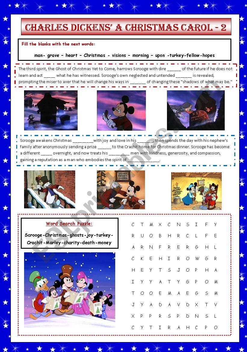 Charles Dickens´ A Christmas Carol 2/2 - ESL worksheet by VaneV