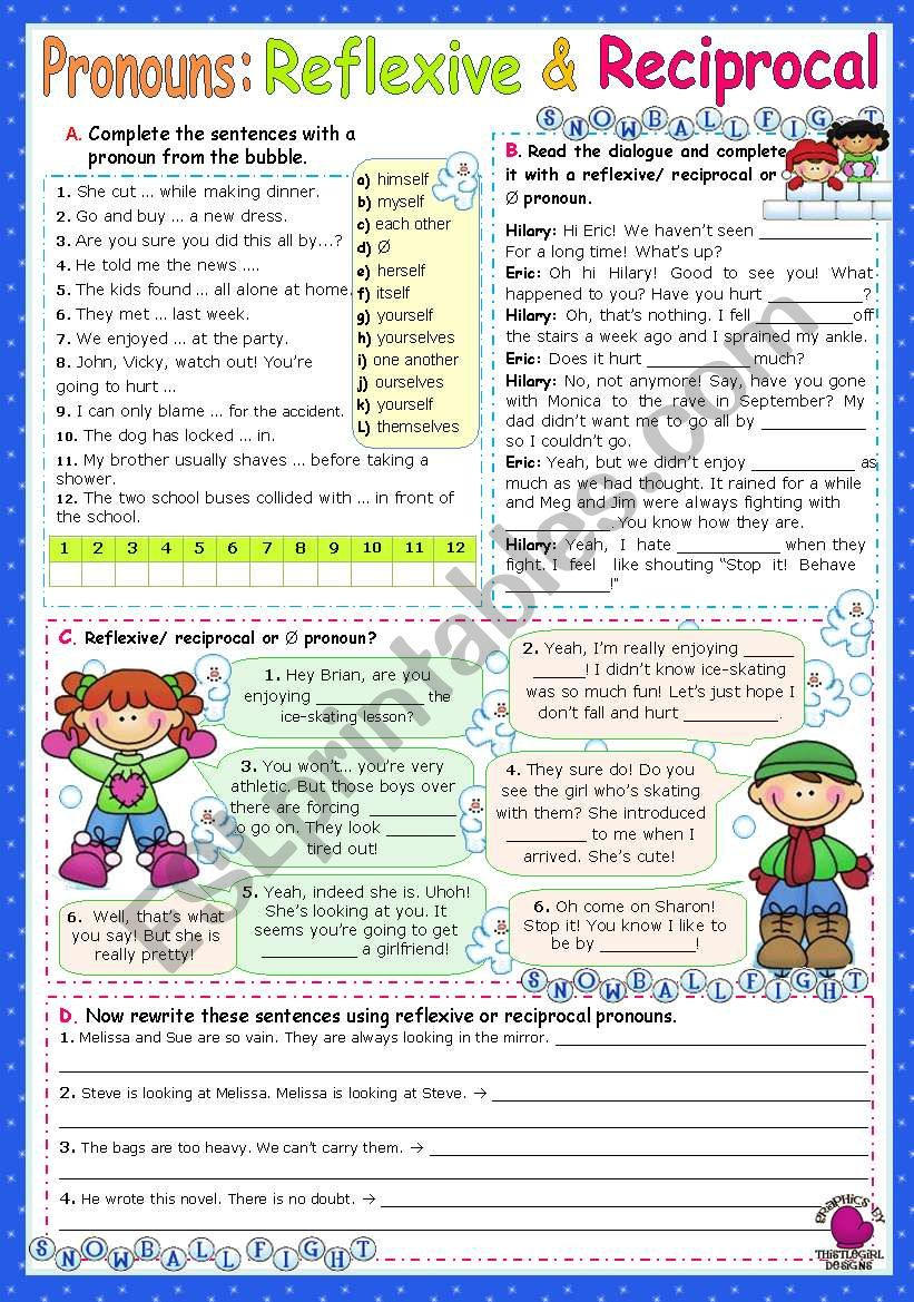 Reflexive   &   Reciprocal Pronouns