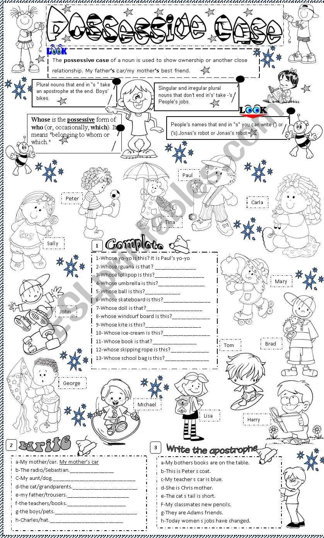 possessive case worksheet