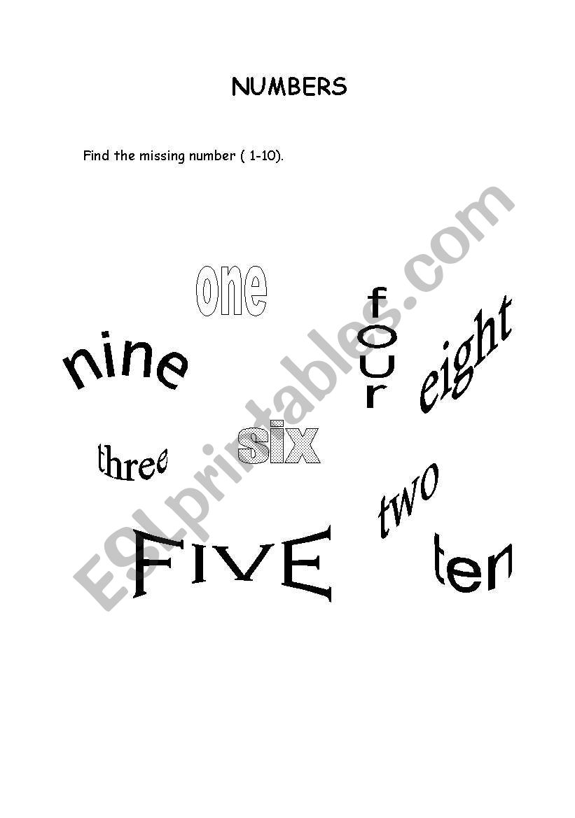 Find the missing number ( 1 - 10 )