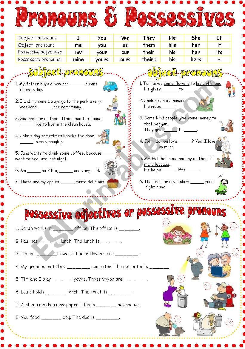 Personal pronouns & Possessive