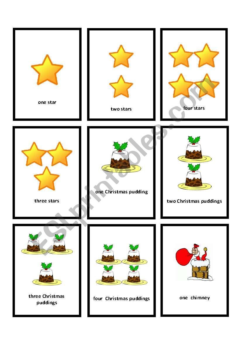 Christmas go_fish_7 worksheet