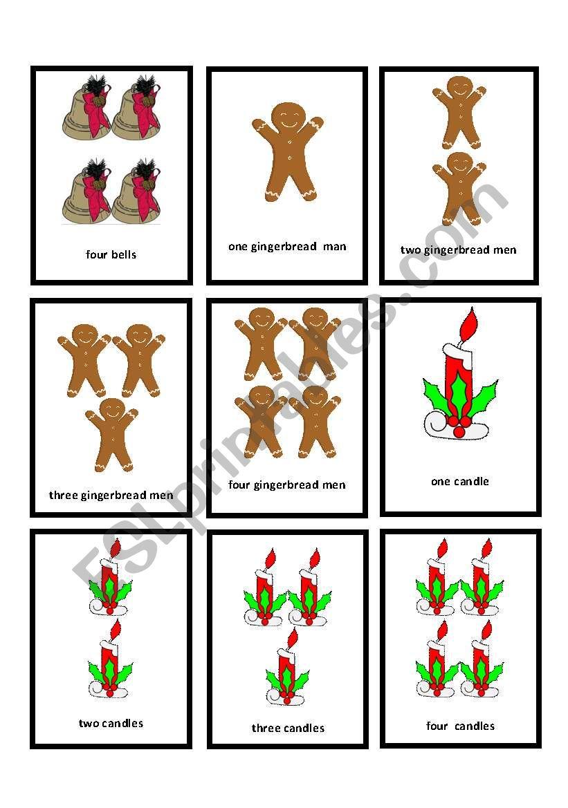 Christmas go_fish 10 worksheet