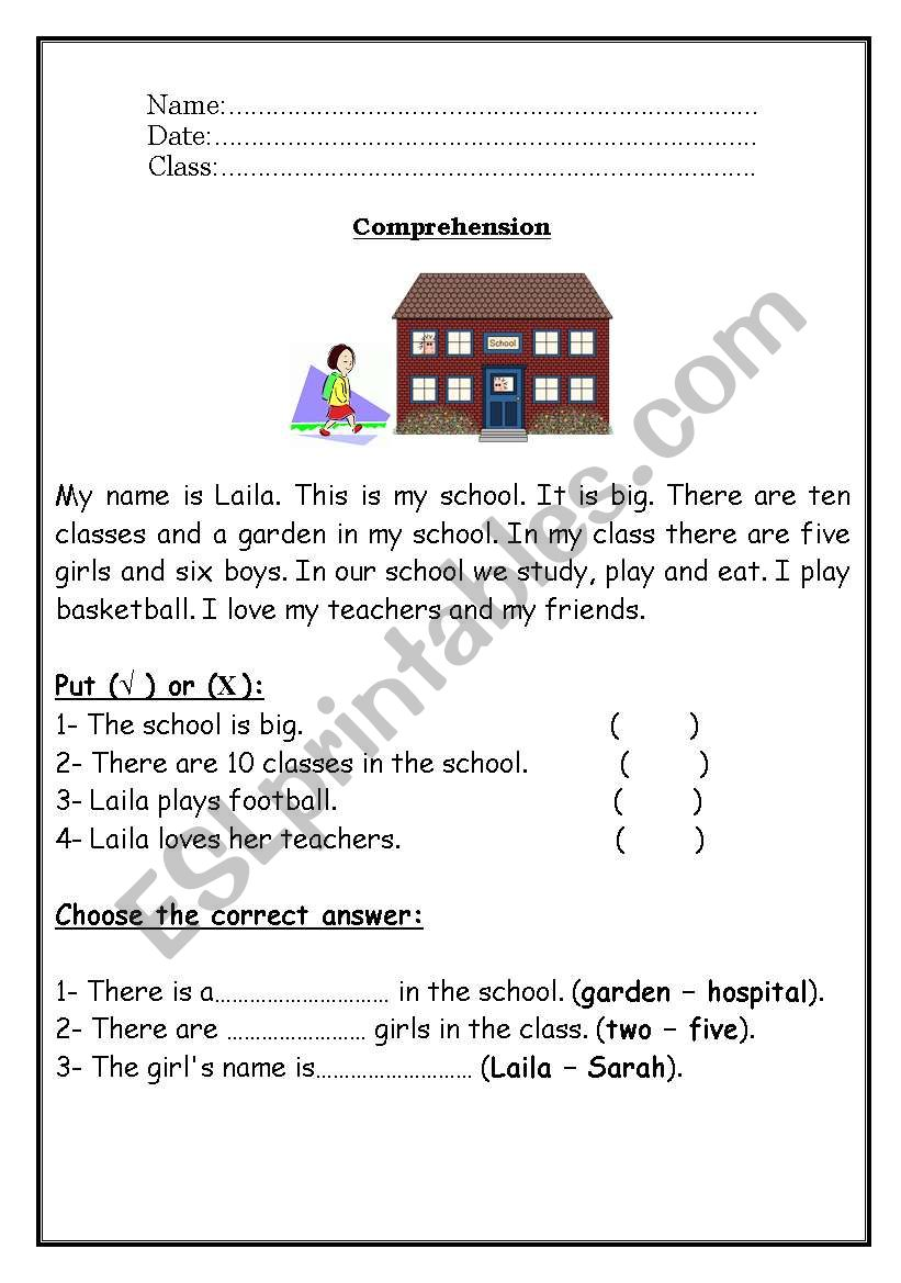 - Reading Comprehension - ESL Worksheet By Roma_ama